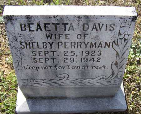 DAVIS PERRYMAN, BEATTA RUTH - Lawrence County, Arkansas | BEATTA RUTH DAVIS PERRYMAN - Arkansas Gravestone Photos