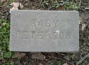 PETERSON, INFANT - Lawrence County, Arkansas | INFANT PETERSON - Arkansas Gravestone Photos