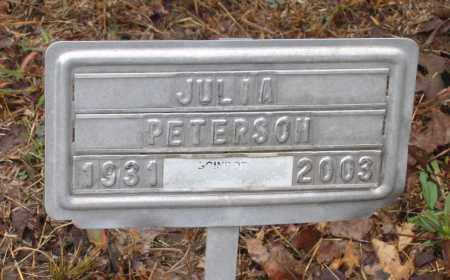 PETERSON, JULIA - Lawrence County, Arkansas | JULIA PETERSON - Arkansas Gravestone Photos