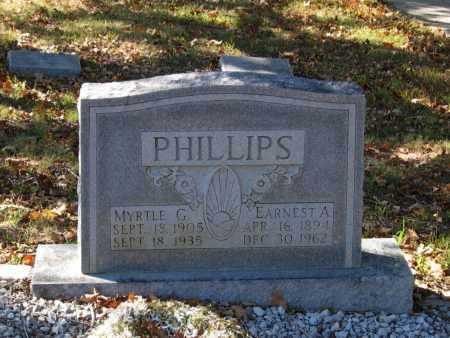 PHILLIPS, MYRTLE - Lawrence County, Arkansas | MYRTLE PHILLIPS - Arkansas Gravestone Photos