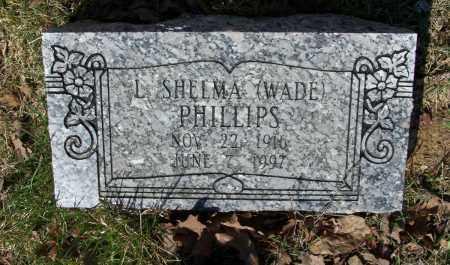 WADE PHILLIPS, LILLIAN SHELMA - Lawrence County, Arkansas | LILLIAN SHELMA WADE PHILLIPS - Arkansas Gravestone Photos