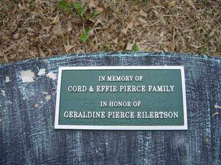 PIERCE, MEMORIAL MARKER - Lawrence County, Arkansas   MEMORIAL MARKER PIERCE - Arkansas Gravestone Photos