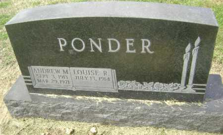 """PONDER, ANDREW MONTGOMERY """"ANDY"""" - Lawrence County, Arkansas 