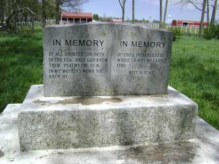 *MEMORIAL MONUMENT (BACK),  - Lawrence County, Arkansas |  *MEMORIAL MONUMENT (BACK) - Arkansas Gravestone Photos