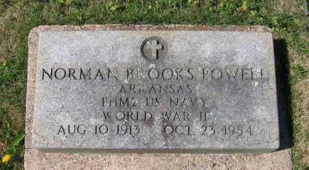 POWELL (VETERAN WWII), NORMAL BROOKS - Lawrence County, Arkansas | NORMAL BROOKS POWELL (VETERAN WWII) - Arkansas Gravestone Photos