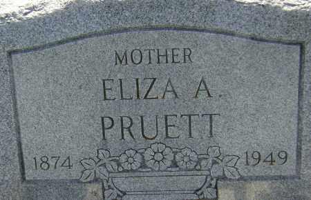 PRUETT, ELIZA A. - Lawrence County, Arkansas   ELIZA A. PRUETT - Arkansas Gravestone Photos