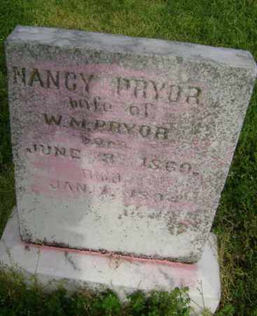 PRYOR, NANCY - Lawrence County, Arkansas | NANCY PRYOR - Arkansas Gravestone Photos
