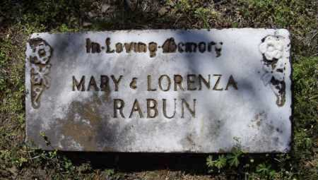 RABUN, MARY AND LORENZA MEMORIAL - Lawrence County, Arkansas   MARY AND LORENZA MEMORIAL RABUN - Arkansas Gravestone Photos