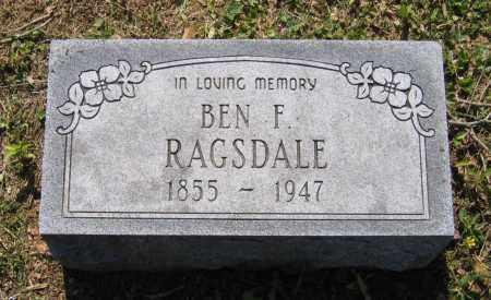 "RAGSDALE, BENJAMIN FRANKLIN ""BEN"" - Lawrence County, Arkansas | BENJAMIN FRANKLIN ""BEN"" RAGSDALE - Arkansas Gravestone Photos"