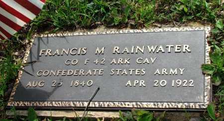 RAINWATER (VETERAN CSA), FRANCIS MARION - Lawrence County, Arkansas   FRANCIS MARION RAINWATER (VETERAN CSA) - Arkansas Gravestone Photos