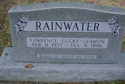 "RAINWATER, LAWRENCE LEAMON ""LUCKY"" - Lawrence County, Arkansas   LAWRENCE LEAMON ""LUCKY"" RAINWATER - Arkansas Gravestone Photos"