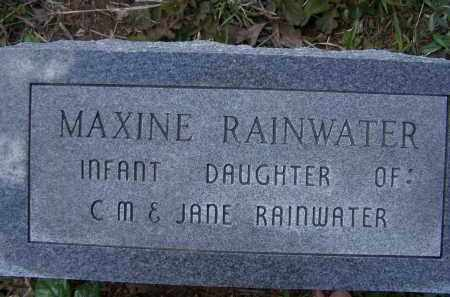 RAINWATER, MAXINE - Lawrence County, Arkansas   MAXINE RAINWATER - Arkansas Gravestone Photos