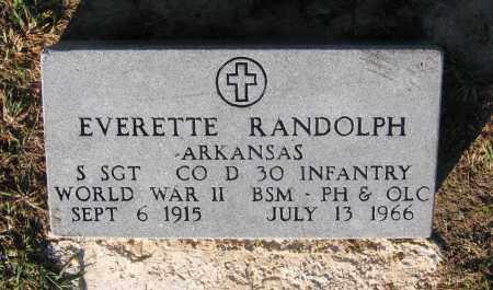 RANDOLPH (VETERAN WWII), EVERETTE - Lawrence County, Arkansas   EVERETTE RANDOLPH (VETERAN WWII) - Arkansas Gravestone Photos