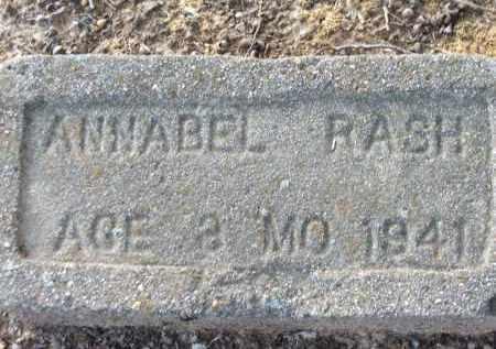 RASH, ANNABEL - Lawrence County, Arkansas | ANNABEL RASH - Arkansas Gravestone Photos