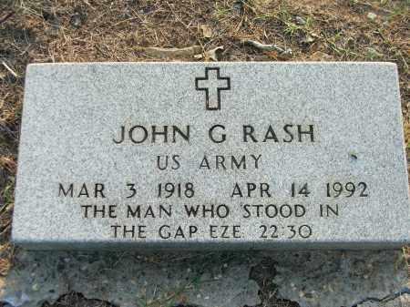 RASH (VETERAN), JOHN GALBREATH - Lawrence County, Arkansas | JOHN GALBREATH RASH (VETERAN) - Arkansas Gravestone Photos
