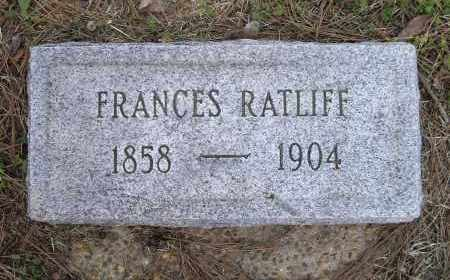"WEBB RATLIFF, FRANCES D. ""FANNIE"" - Lawrence County, Arkansas 