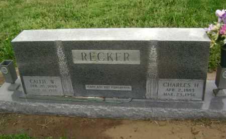 RECKER, CALLIE W. - Lawrence County, Arkansas | CALLIE W. RECKER - Arkansas Gravestone Photos