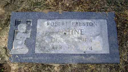 RHINE, ROBERT PRESTON - Lawrence County, Arkansas | ROBERT PRESTON RHINE - Arkansas Gravestone Photos