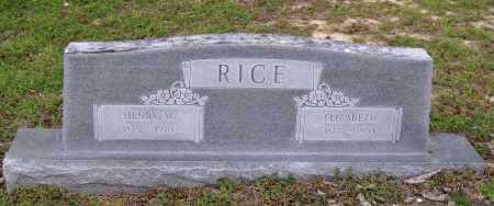 RICE, ELIZABETH - Lawrence County, Arkansas   ELIZABETH RICE - Arkansas Gravestone Photos