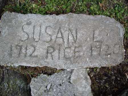 RICE, SUSAN L. - Lawrence County, Arkansas | SUSAN L. RICE - Arkansas Gravestone Photos