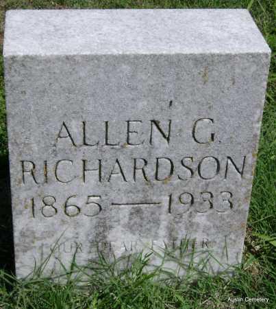 RICHARDSON, ALLEN G. - Lawrence County, Arkansas | ALLEN G. RICHARDSON - Arkansas Gravestone Photos
