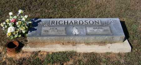 RICHARDSON (VETERAN 2 WARS), JACK WESLEY - Lawrence County, Arkansas | JACK WESLEY RICHARDSON (VETERAN 2 WARS) - Arkansas Gravestone Photos