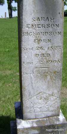 EMERSON RICHARDSON, SARAH - Lawrence County, Arkansas | SARAH EMERSON RICHARDSON - Arkansas Gravestone Photos