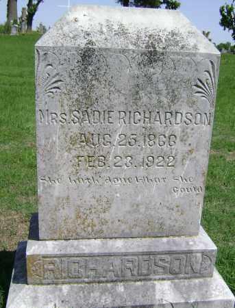 RICHARDSON, SADIE - Lawrence County, Arkansas | SADIE RICHARDSON - Arkansas Gravestone Photos
