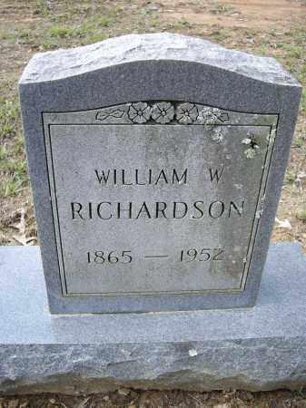 RICHARDSON, WILLIAM W. - Lawrence County, Arkansas | WILLIAM W. RICHARDSON - Arkansas Gravestone Photos