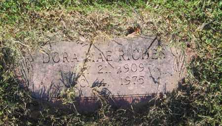RICHES, DORA MAE - Lawrence County, Arkansas   DORA MAE RICHES - Arkansas Gravestone Photos