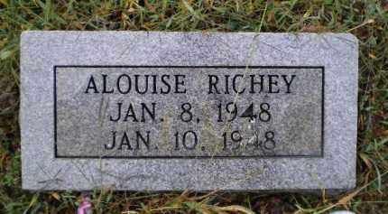 RICHEY, ALOUISE - Lawrence County, Arkansas | ALOUISE RICHEY - Arkansas Gravestone Photos
