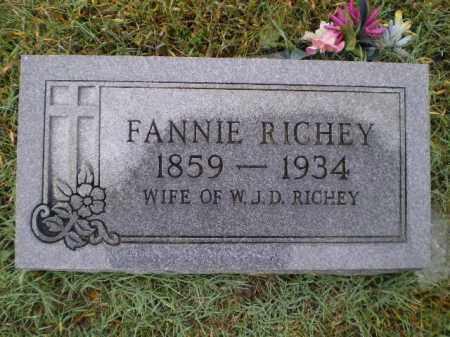 "RICHEY, FRANCES LEE ""FANNIE"" - Lawrence County, Arkansas   FRANCES LEE ""FANNIE"" RICHEY - Arkansas Gravestone Photos"