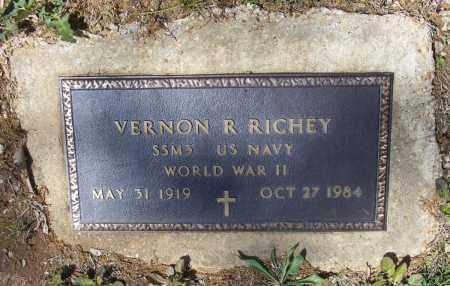 RICHEY (VETERAN WWII), VERNON RUEL - Lawrence County, Arkansas | VERNON RUEL RICHEY (VETERAN WWII) - Arkansas Gravestone Photos