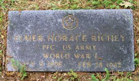 RICHEY (VETERAN WWI), ELMER HORACE - Lawrence County, Arkansas | ELMER HORACE RICHEY (VETERAN WWI) - Arkansas Gravestone Photos