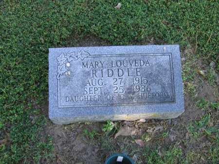 HUFFORD RIDDLE, MARY LOUVEDA - Lawrence County, Arkansas | MARY LOUVEDA HUFFORD RIDDLE - Arkansas Gravestone Photos