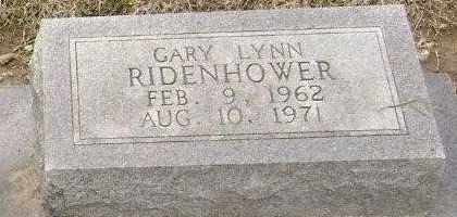 RIDENHOWER, GARY LYNN - Lawrence County, Arkansas   GARY LYNN RIDENHOWER - Arkansas Gravestone Photos