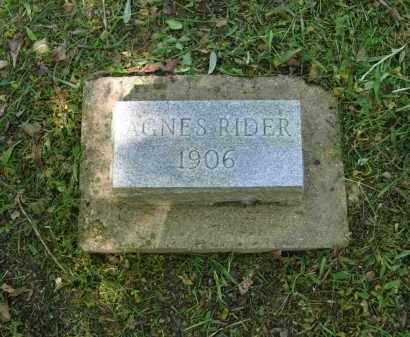 RIDER, AGNES - Lawrence County, Arkansas | AGNES RIDER - Arkansas Gravestone Photos