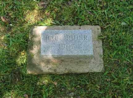 RIDER, BABY - Lawrence County, Arkansas | BABY RIDER - Arkansas Gravestone Photos