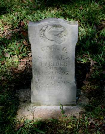 RIDER, CARL O. - Lawrence County, Arkansas | CARL O. RIDER - Arkansas Gravestone Photos