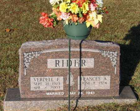 RIDER, VERDELL FRANKLIN - Lawrence County, Arkansas | VERDELL FRANKLIN RIDER - Arkansas Gravestone Photos