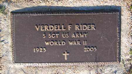 RIDER (VETERAN WWII), VERDELL FRANKLIN - Lawrence County, Arkansas | VERDELL FRANKLIN RIDER (VETERAN WWII) - Arkansas Gravestone Photos