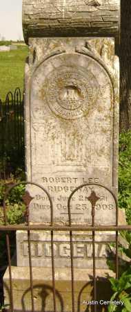 RIDGEWAY, ROBERT LEE - Lawrence County, Arkansas | ROBERT LEE RIDGEWAY - Arkansas Gravestone Photos