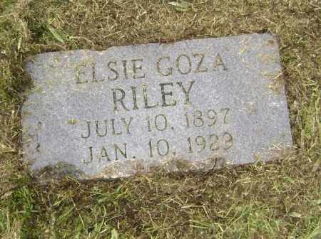 GOZA RILEY, ELSIE - Lawrence County, Arkansas | ELSIE GOZA RILEY - Arkansas Gravestone Photos