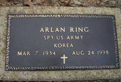 RING (VETERAN KOR), ARLAN D. - Lawrence County, Arkansas | ARLAN D. RING (VETERAN KOR) - Arkansas Gravestone Photos