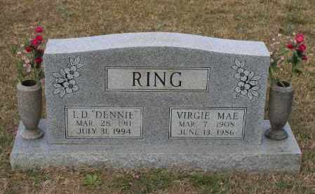 ANDERSON RING, VIRGIE MAE - Lawrence County, Arkansas   VIRGIE MAE ANDERSON RING - Arkansas Gravestone Photos