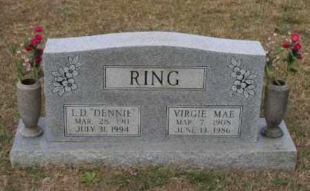 "RING, IRA D. ""DENNIE"" - Lawrence County, Arkansas | IRA D. ""DENNIE"" RING - Arkansas Gravestone Photos"