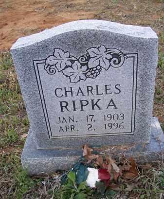 RIPKA, CHARLES J. - Lawrence County, Arkansas | CHARLES J. RIPKA - Arkansas Gravestone Photos