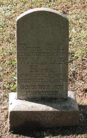 RIPKA, ETHEL E. L. - Lawrence County, Arkansas | ETHEL E. L. RIPKA - Arkansas Gravestone Photos
