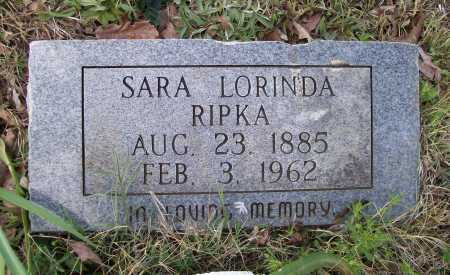 CHAMBLESS RIPKA, SARA LORINDA - Lawrence County, Arkansas | SARA LORINDA CHAMBLESS RIPKA - Arkansas Gravestone Photos