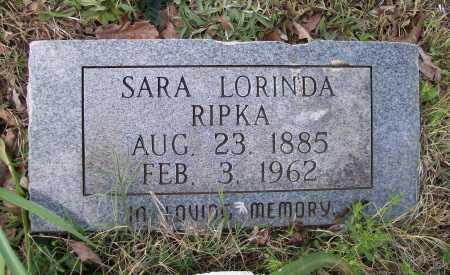 CHAMBLESS RIPKA, SARA LORINDA - Lawrence County, Arkansas | SARA LORINDA CHAMBLESS RIPKA - Arkansas Gravestone Photos